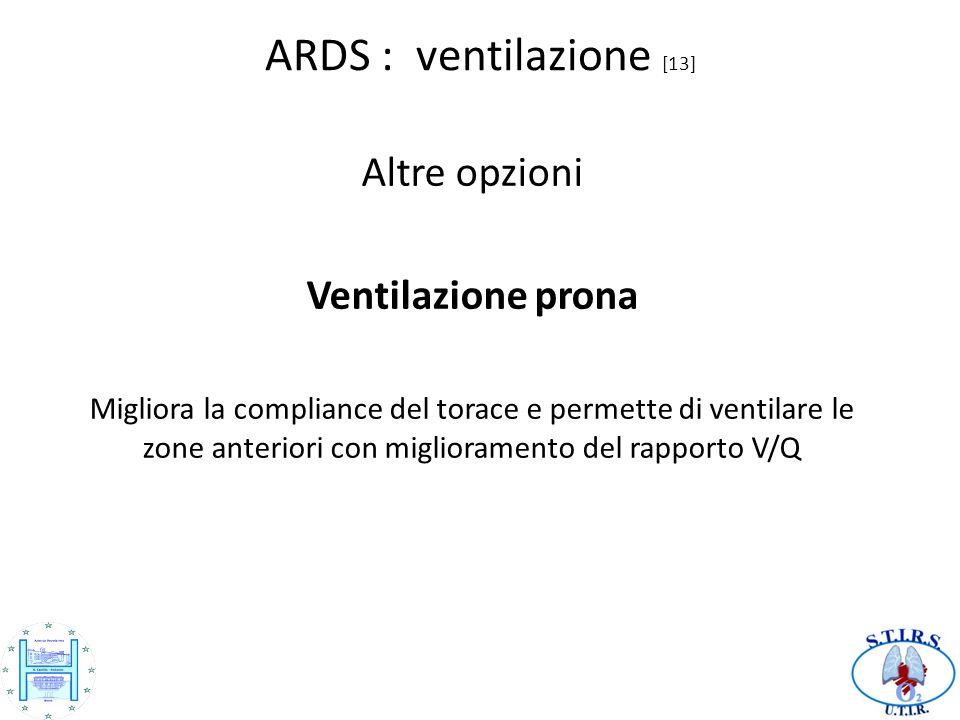 ARDS : ventilazione [13] Altre opzioni Ventilazione prona